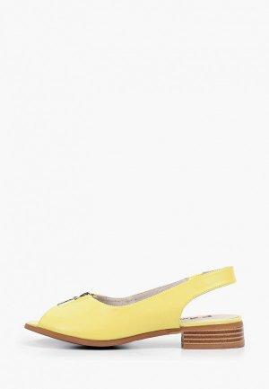 Босоножки Francesco Donni. Цвет: желтый