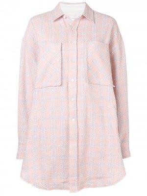 Клетчатая рубашка свободного кроя Faith Connexion. Цвет: розовый