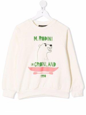 Polar Bear organic cotton sweatshirt Mini Rodini. Цвет: нейтральные цвета