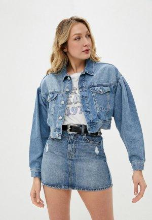 Куртка джинсовая Pepe Jeans RIDGE. Цвет: голубой