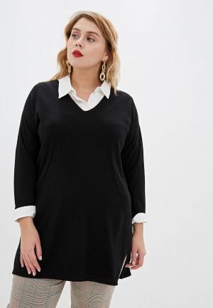 Пуловер Persona by Marina Rinaldi ALBERO. Цвет: черный
