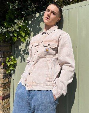 Светло-коричневая выбеленная джинсовая куртка Stetson-Коричневый цвет Carhartt WIP