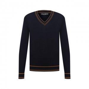 Шерстяной пуловер Dolce & Gabbana. Цвет: синий