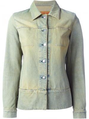 Выбеленная джинсовая куртка Helmut Lang Vintage. Цвет: синий