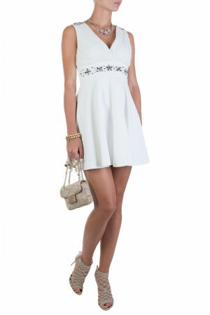 Платье Flavio Castellani. Цвет: белый
