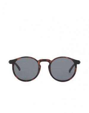 Солнечные очки LE SPECS. Цвет: темно-коричневый