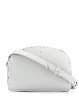 Полукруглая сумка через плечо A.P.C.. Цвет: серый