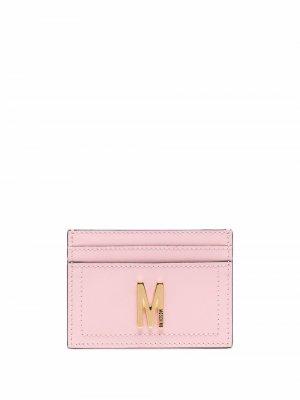 Картхолдер с логотипом Moschino. Цвет: розовый