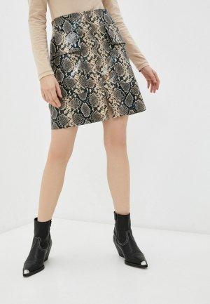 Юбка Katya Erokhina Chaga. Цвет: коричневый