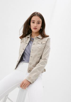 Куртка джинсовая Softy. Цвет: бежевый
