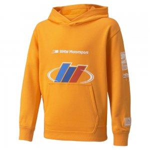 Детская толстовка BMW M Motorsport Street Youth Hoodie PUMA. Цвет: оранжевый