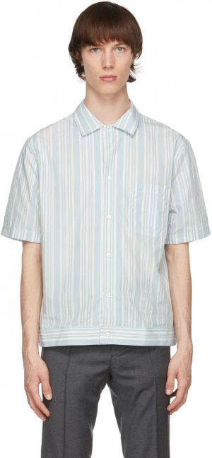 Blue & White Striped Shirt Brioni. Цвет: 9048 white/