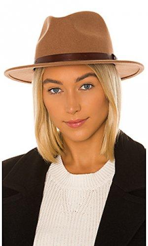 Шляпа федора messer Brixton. Цвет: коричневый