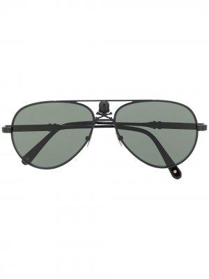 Солнцезащитные очки-авиаторы Skull Philipp Plein. Цвет: черный