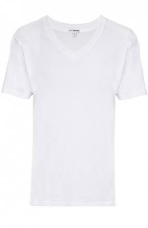 Хлопковая футболка James Perse. Цвет: белый