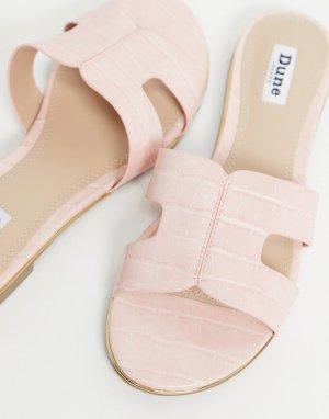 Розовые шлепанцы с вырезами -Розовый цвет Dune
