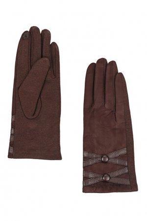 Перчатки бордового цвета Marco Bonne`. Цвет: коричневый