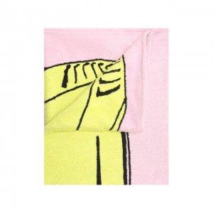 Хлопковое полотенце Bottega Veneta. Цвет: розовый