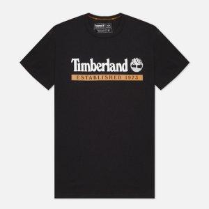 Мужская футболка Established 1973 Timberland. Цвет: чёрный