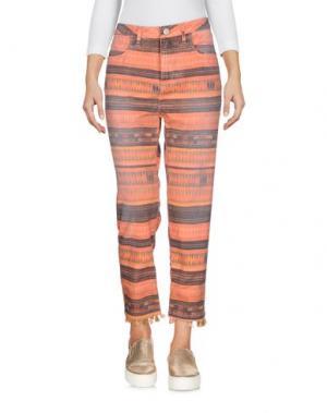 Джинсовые брюки-капри MAISON SCOTCH. Цвет: оранжевый