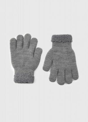 Трикотажные перчатки для мальчиков O`Stin. Цвет: графитовый
