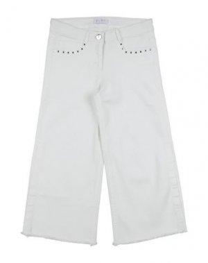Джинсовые брюки ELSY. Цвет: белый