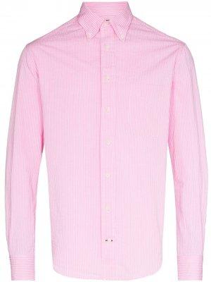 Рубашка в тонкую полоску Gitman Vintage. Цвет: розовый