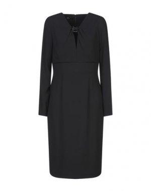Платье до колена COMPAGNIA ITALIANA. Цвет: черный