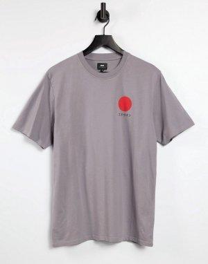 Серая футболка Japanese Sun-Серый Edwin