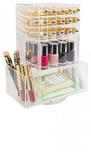 Акриловый мейкап-органайзер acrylic lipstick spinner tower Impressions Vanity. Цвет: beauty: na