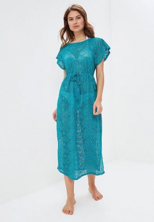 Платье пляжное Lora Grig. Цвет: бирюзовый