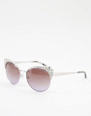 Серебристые солнцезащитные очки кошачий глаз -Серебристый Michael Kors