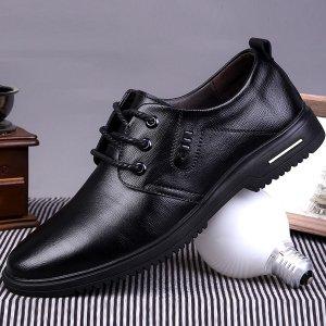 Мужской Броги текстурированный на шнуровке SHEIN. Цвет: чёрный