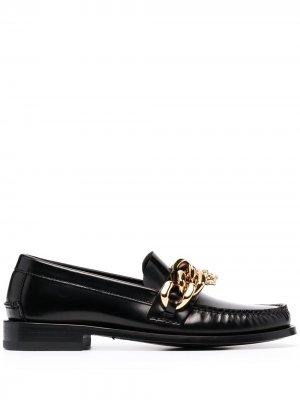 Лоферы с цепочкой Versace. Цвет: черный