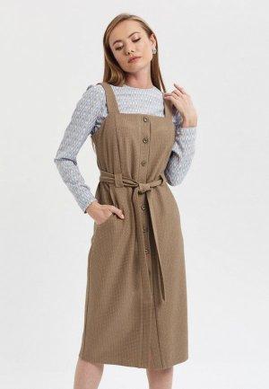Платье Akimbo. Цвет: коричневый