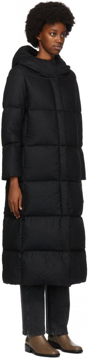Black Down Wool Long Coat Herno. Цвет: 9300 black