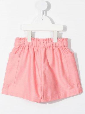 Шорты с карманами Bonton. Цвет: розовый