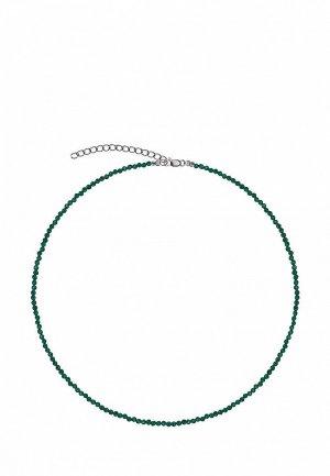 Бусы Сахарок BASIC. Цвет: зеленый