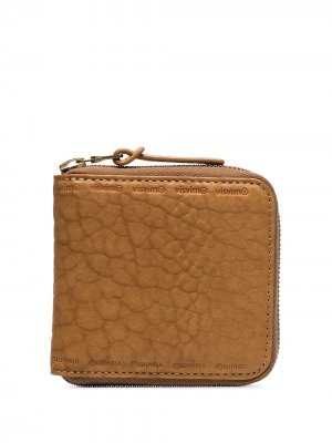 Бумажник на молнии visvim. Цвет: коричневый