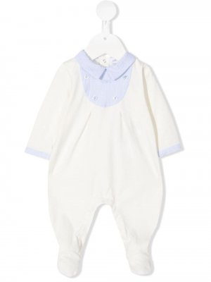 Пижама с классическим воротником Emporio Armani Kids. Цвет: нейтральные цвета