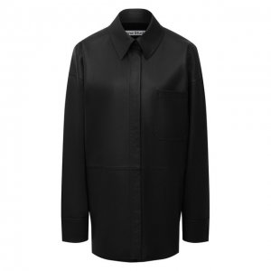 Кожаная рубашка Acne Studios. Цвет: чёрный