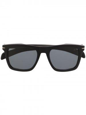 Солнцезащитные очки в прямоугольной оправе Eyewear by David Beckham. Цвет: черный