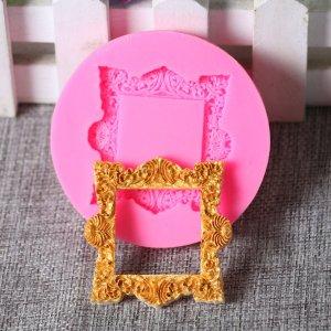 1шт Форма для шоколада в форме фоторамки SHEIN. Цвет: розовые