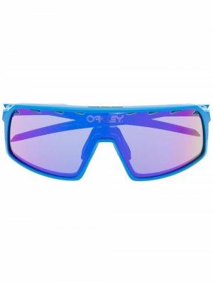 Солнцезащитные очки-маска Oakley. Цвет: синий
