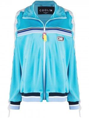 Спортивная куртка с кружевной аппликацией COOL T.M. Цвет: синий