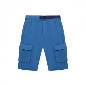 Хлопковые шорты Stella McCartney. Цвет: синий