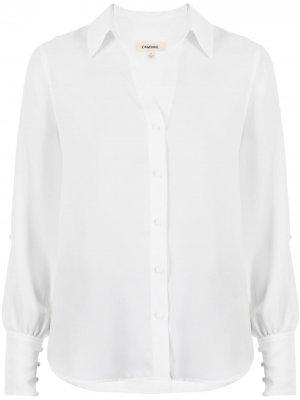LAgence рубашка Jordy с разрезами на рукавах L'Agence. Цвет: белый