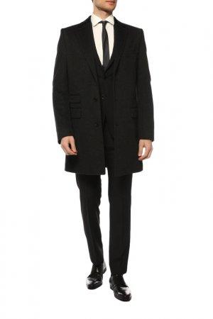 Пальто BOSS. Цвет: темно-серый