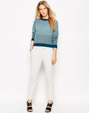 Прямые брюки Le Mont St Michel. Цвет: серый