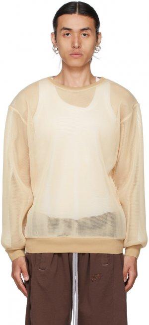 Beige Mesh Sweatshirt Bless. Цвет: skin mesh